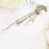 Lance Fashion Star Moon  Crystal Tassel  Hairpin