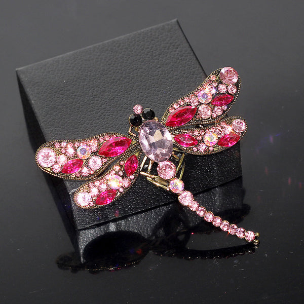 Lance Delicate Dragonfly shaped Sequins Brooch Wholesale Fashion Jewelry