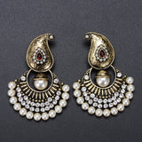 Lance Queen Palace Luxury Vintage Antique Big Rhinestone Pearl Earrings Jewelry