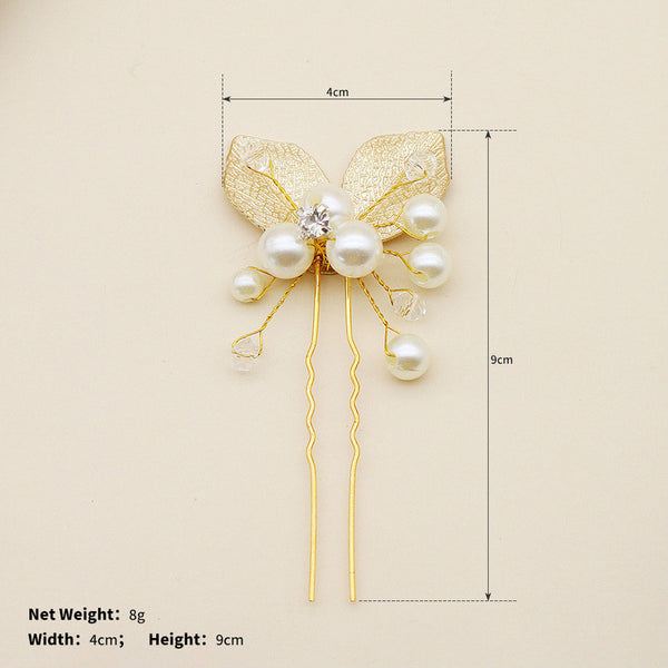 Lance Delicate Leaf shaped Pearls Hair Holder Wholesale Fashion Jewelry