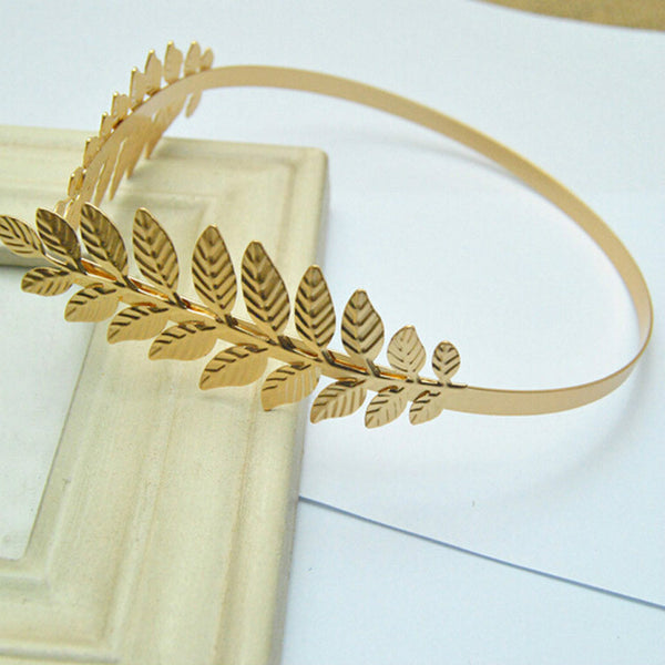 Lance Korean Gold Leaf Stirnband-Haarschmuck