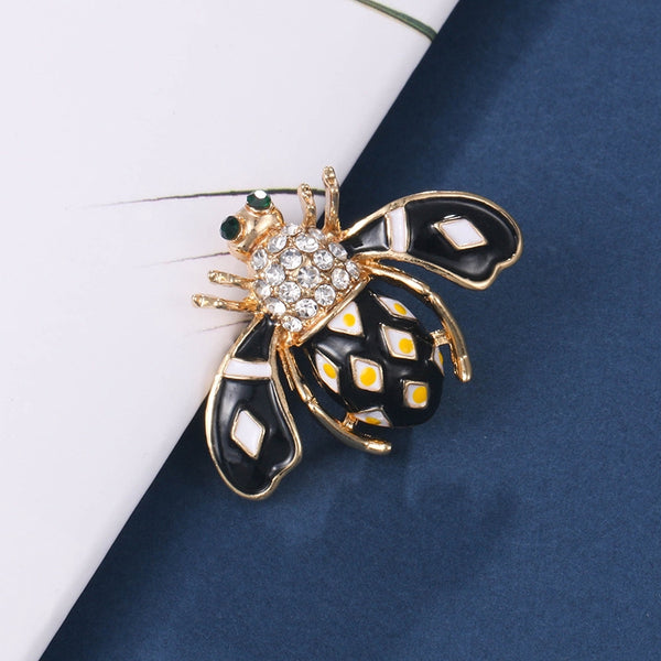 Lance Ready Stock Europe and America Drip Insects Pin Simple Cute Bee Brooch Accessories