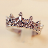 Lance Delicate Crown shaped Alloy Open Ring Wholesale Fashion Jewelry