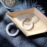 Lance Delicate Hoop shaped Earrings Wholesale Fashion Jewelry