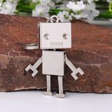 Lance Keyring Keys Chain-Ring Cute Movable Metal Robot Keychain Bag Purse Pendant Gift