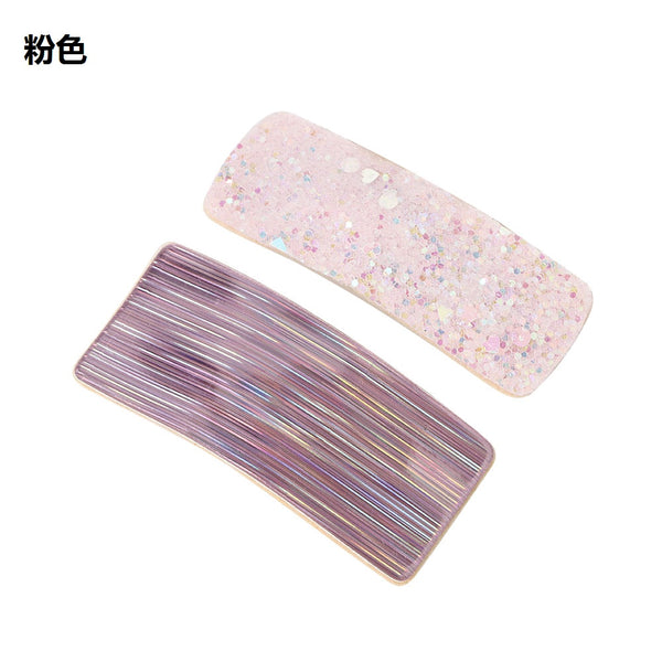 Lance Ladies Fashion Square Sequins HairPin Hair Clip Barrette Hair Accessories