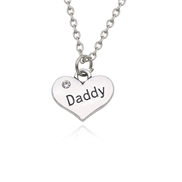 Lance Daddy Heart Necklace America and Europe Pop Fashion Charm Jewelry Pendants Father Gift