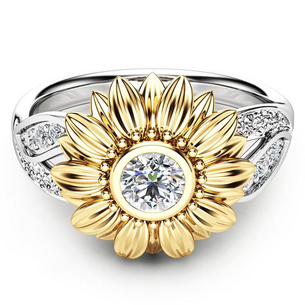 Lance Delicate Sunflower shaped Ring Wholesale Fashion Jewelry