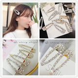 Lance Shiny Trendy Crystal Hairclip Girls Luxury Snap Barrette Bobby Hairpins Jewelry