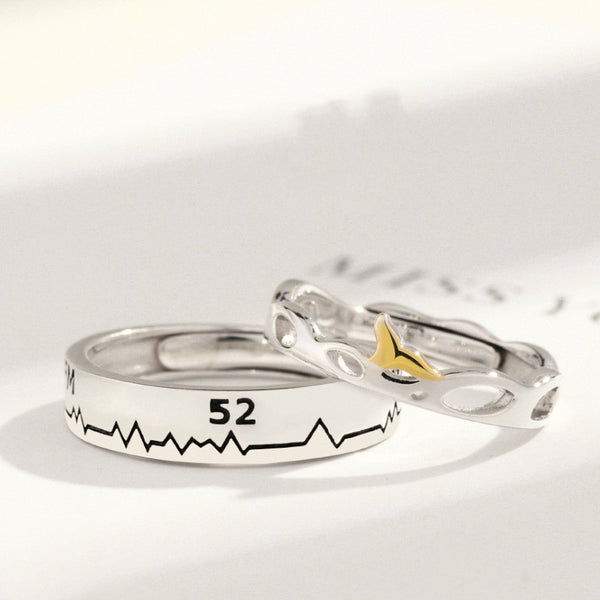 Lance Original 52Hz patterned Couple Ring Wholesale Fashion Jewelry