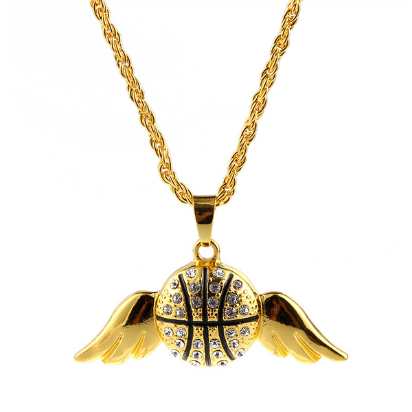 Lance Dream Basketball Wings Necklace Hip Hop Necklace