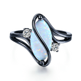 Lance Popular Fashion Black Opal Zircon Microscope Ring Wholesale
