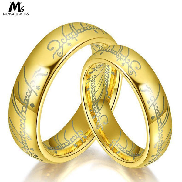 Lance Europe And Titanium Steel Couple Rings Lord Of The Rings Fashion Jewelry For Men And Women