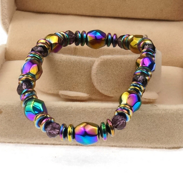 Lance Fashion Colorful Black Magnet Handmade Hematite Bracelet