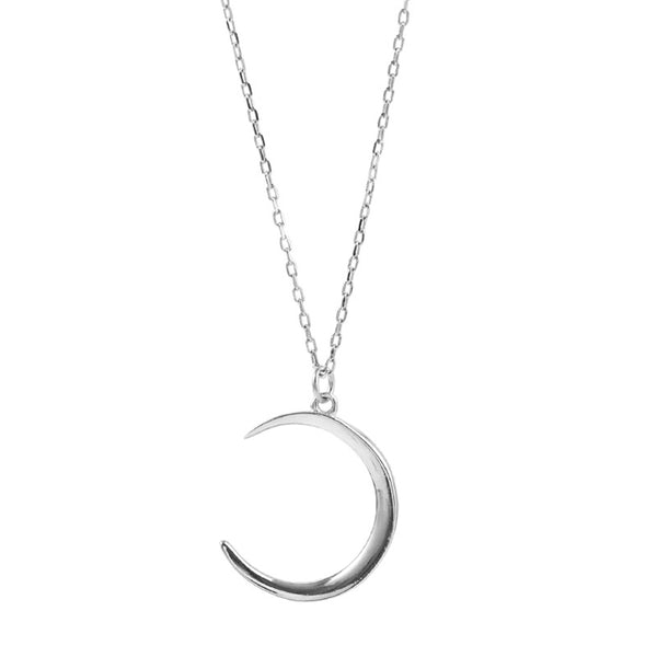 Lance Simple Wild Temperament Alloy Moon Metal Pendant Clavicle Chain Necklace Women