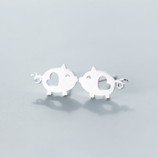 Lance Cute and Delicate Pig & Heart shaped Ear Studs Wholesale Fashion Jewelry