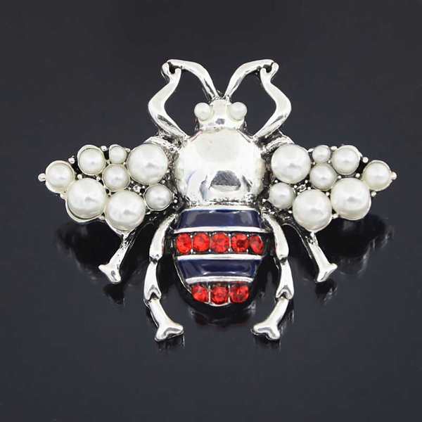 Lance Fashion Hot-selling Pop Alloy Pearl Bee Brooch