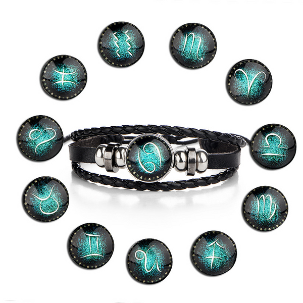 Lance Vintage 12 Constellation Braided Leather Bracelet