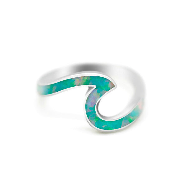 Lance Wave Ring  Silver Plated  Exquisite Jewelry