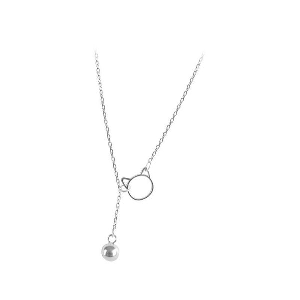 Lance Bell Cat S925 Silver Wholesale Fashion Simple Pendant Necklace