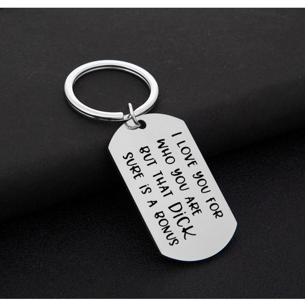Lance I Love You for Who You Are Lover Keys Christmas Gift Stainless Steel Military Key Chains