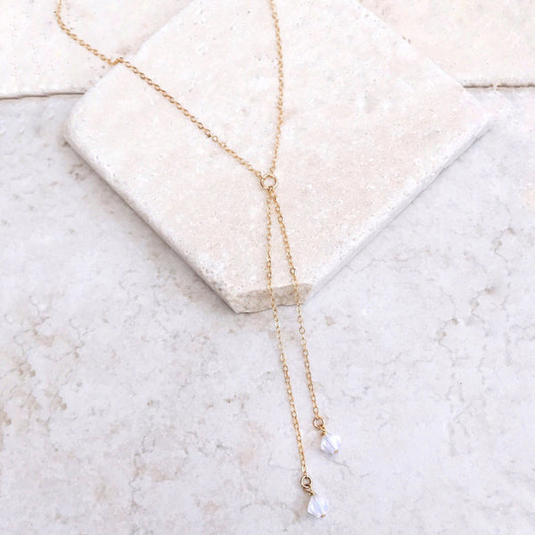 Lance Fashion Natural Crystal Necklace Tassel Necklace Female