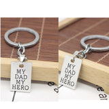 Lance My Dad My Hero Father's Day Heroic Letter Carved Keyring Key Chain Gift Jewelry