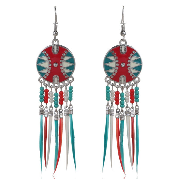 Lance Jewelry Color Tassel Earrings Turtle Shell Dripping Oil Hot Selling Female Earrings in Europe and America Classic Earrings