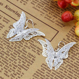 Lance Fashion Women Pretty 925 Silver Multilayer Butterfly Dangle Earrings Jewelry New