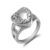 Lance Stainless Steel Silver Love Heart Ring Cremation Urn Memorial Ash Ring Coffin Rings Size 6-9