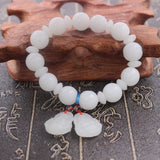 Lance Women and Men Fashion Lmitation White Jade Bracelet