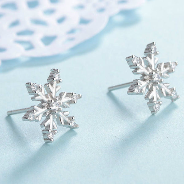 Lance S925 Silver Fresh Snowflake Earring  Zircon Earrings
