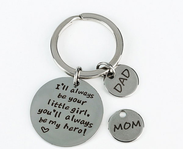 Lance Father's Day Keychain Keyring DAD I'll Always Be Your Little Girl Birthday Gift