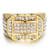 Lance populaire Blockbuster Fashion Diamond Homme Bijoux Bague