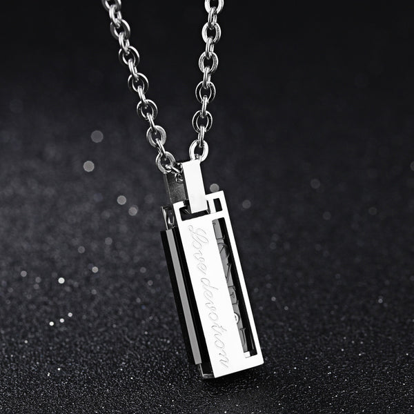Lance Romantic Valentine's Day Gift Titanium Steel Couple Necklace
