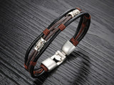 Lance European and American vintage fashion personality belt bracelet bronze alloy buckle bracelet