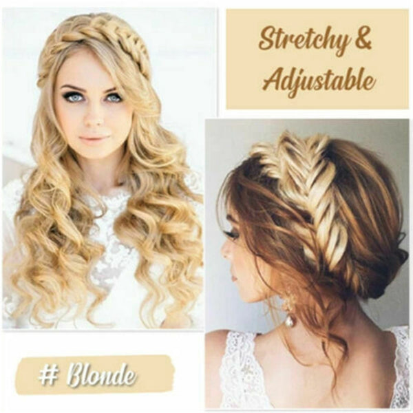 Lance Bohemian Easy-Wear Hairbands- Elastic Twist Braided Hair Headband Wig Fishtail