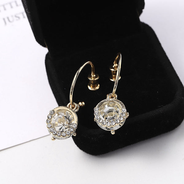 Lance Gorgeous Drop Earrings Women 18k Yellow Gold Plated Jewelry A Pair/set