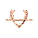 Lance Christmas elk antler copper animal ring
