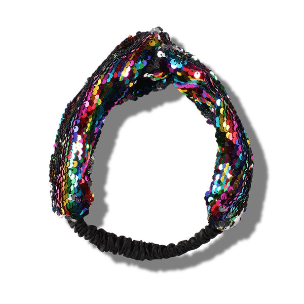 Lance New Europe And America Hair Band Trend Fashion Sequins Wide Edge Hair Band
