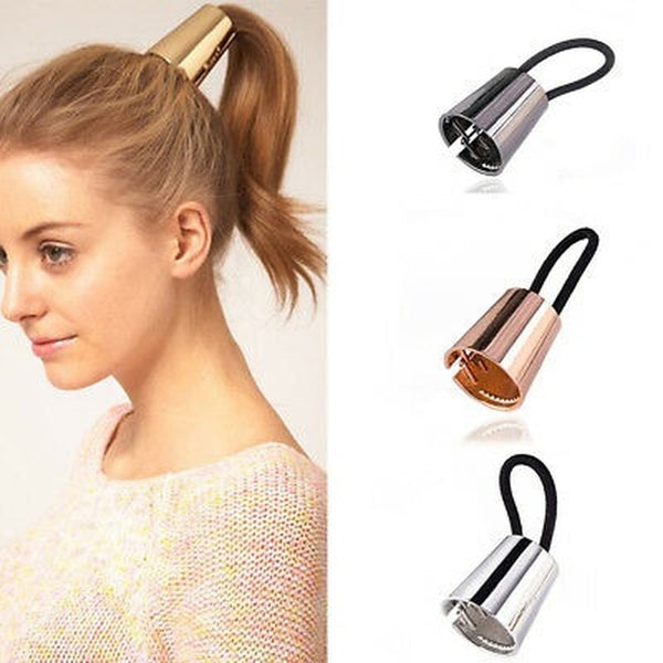 Lance Women Hair Band Rope Holder Leaf Headband Ponytail Elastic Accessories