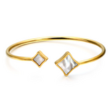 Lance Simple Geometric Shell Open Titanium Steel Bracelet Bangle