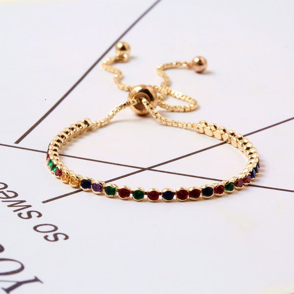 Lance Colorful Jewelry Hand Jewelry Japan and South Korea Europe and America Simple Accessories Bracelet
