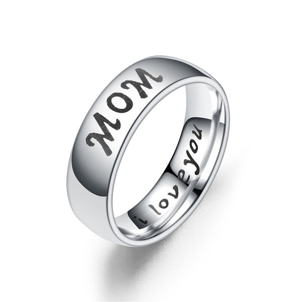 Lance Europe And The United States Home Warm Couple Family Ring Love Mom Son Daughter