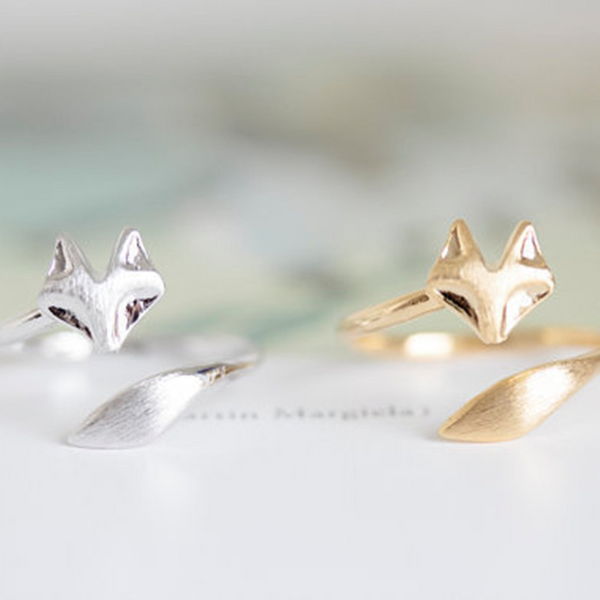 Lance Alloy Adjustable Animal Fox Ring