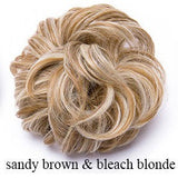 Lance 100% Natural Curly Messy Bun Hair Piece Extra Thick Hair Extensions