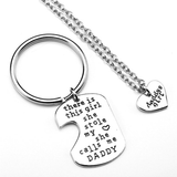 Lance Father's Day Gift Keychain Necklace Thanksgiving Keychain Pendant Jewelry Necklace