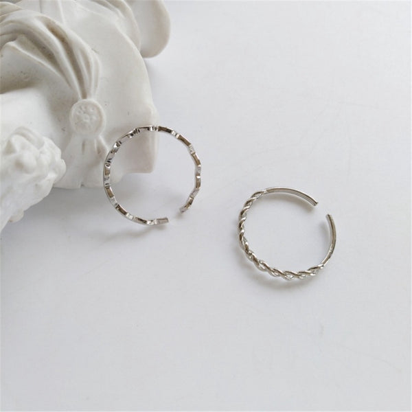 Lance Personality Two-piece Ring Simple Winding Opening Wavy Joint Ring Tail Ring