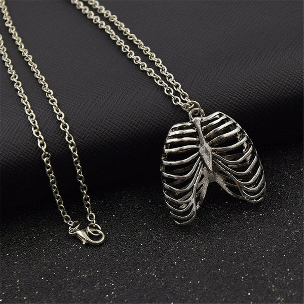 Lance Anatomical Inspired Heart Necklace Human Rib Cage Body Chest Love Pendant Gift