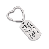 Lance I Love You for Who You Are...is A Bonus Stainless Steel Couple Key Chain